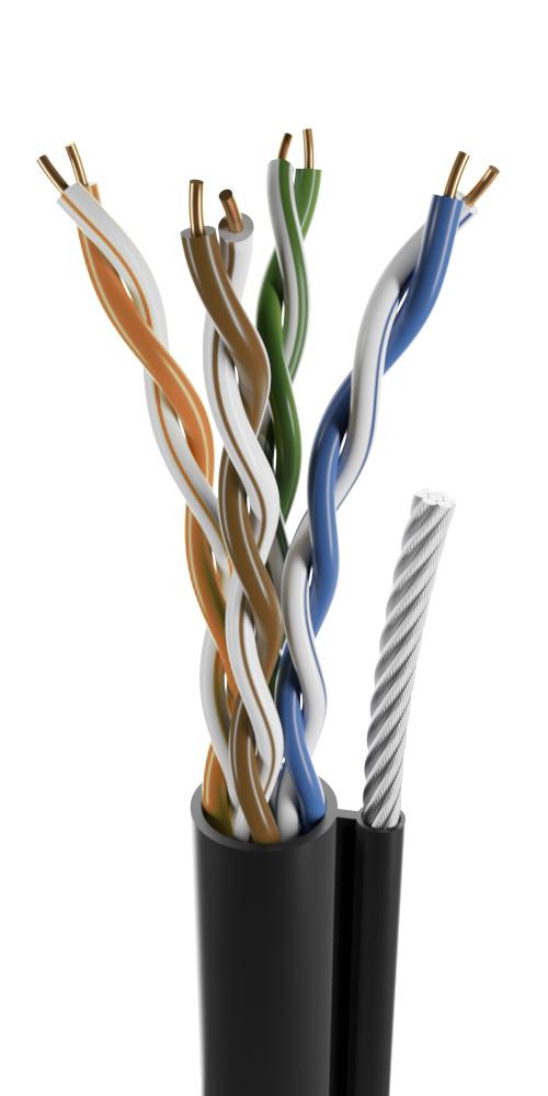 U/UTP 4 пары наружный с тросом
