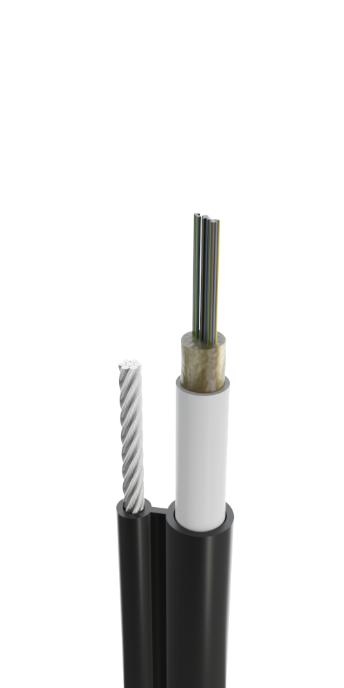 Кабель для подвеса с тросом с центральным оптическим элементом