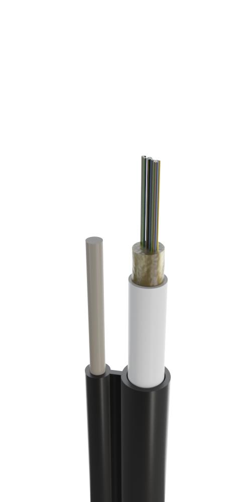 Кабель для подвеса с выносным диэлектрическим несущим элементом с центральным оптическим элементом