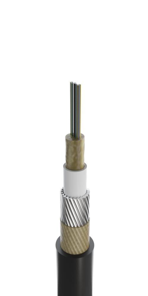 Кабель для прокладки в грунт с центральным оптическим элементом