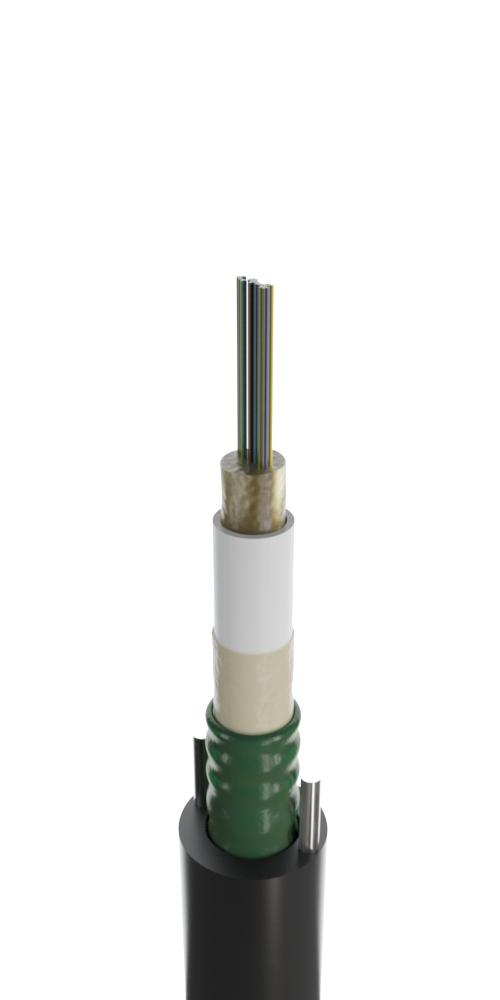 Кабель для прокладки в канализацию с центральным оптическим элементом