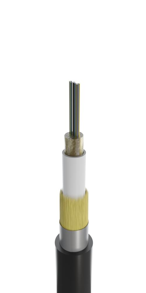 Кабель для задувки в пластиковые трубы с центральным оптическим элементом