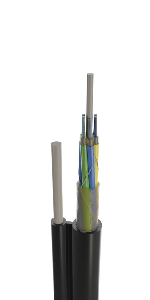 Кабель для подвеса с выносным диэлектрическим несущим элементом модульной конструкции